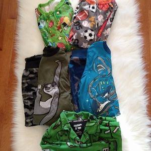 Boys' Pajama Bundle, 5 Pairs, Size 6/7